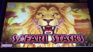 Nice Konami SAFARI STACKS Slot Bonus BIG WIN *Multipliers*