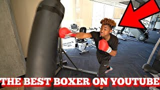 TRAINING FOR THE BOXING MATCH!! (HE'S SCARED)