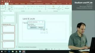 Abschnitte einsetzen bei PowerPoint - Tutorial deutsch - https://www.Studium-und-PC.de