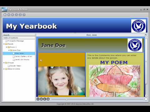 Create Interactive Digital Yearbook with SpryBook Software