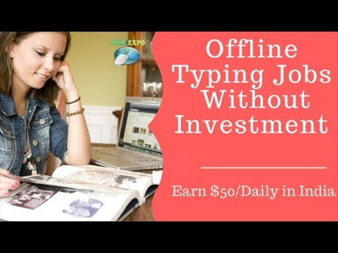 Offline Book Typing Jobs From Home Without Investment , We