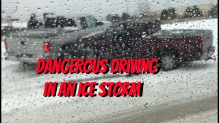 087: Dangerous driving during an ice storm
