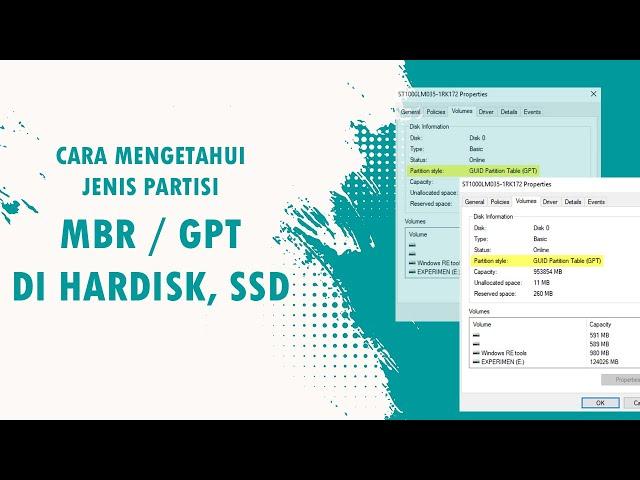 Cara mengetahui MBR atau GPT di Hardisk dan SSD