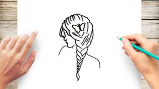 How to Draw Hairstyles Step by Step for Beginner