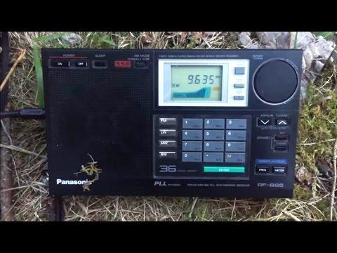 Panasonic RF-B65 versus Sony ICF-SW55 Radio Mali 9635 kHz, first reception