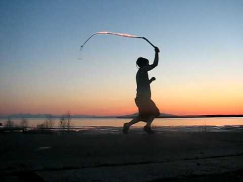 fireballs in front of mt. susitna
