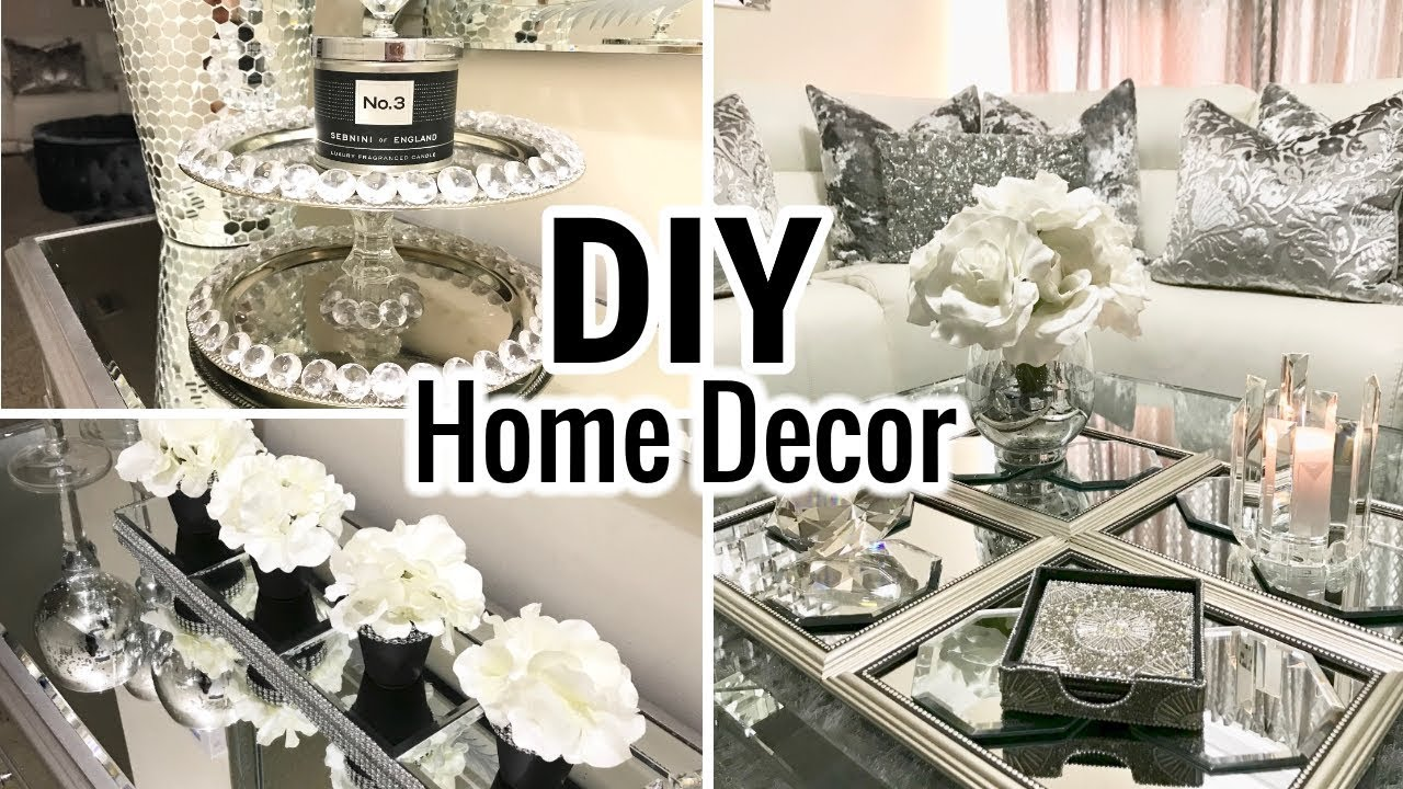 DIY Home Decor Ideas | Dollar Tree DIY Mirror Decor - YouTube
