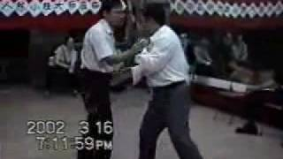 The Chen Xiao Wang freestyle Tui Shou Tai Chi, push hands with Liao Bai