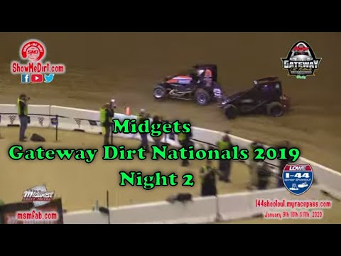 Midgets Gateway Dirt Nationals 2019 Night 2 from YouTube · Duration:  14 minutes 57 seconds