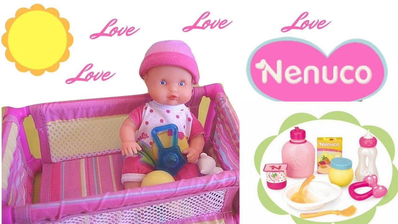Nenuco Baby Doll Newborn With Nursery Furniture   Mini Nenuco Boneca  Abrindo Brinquedos!