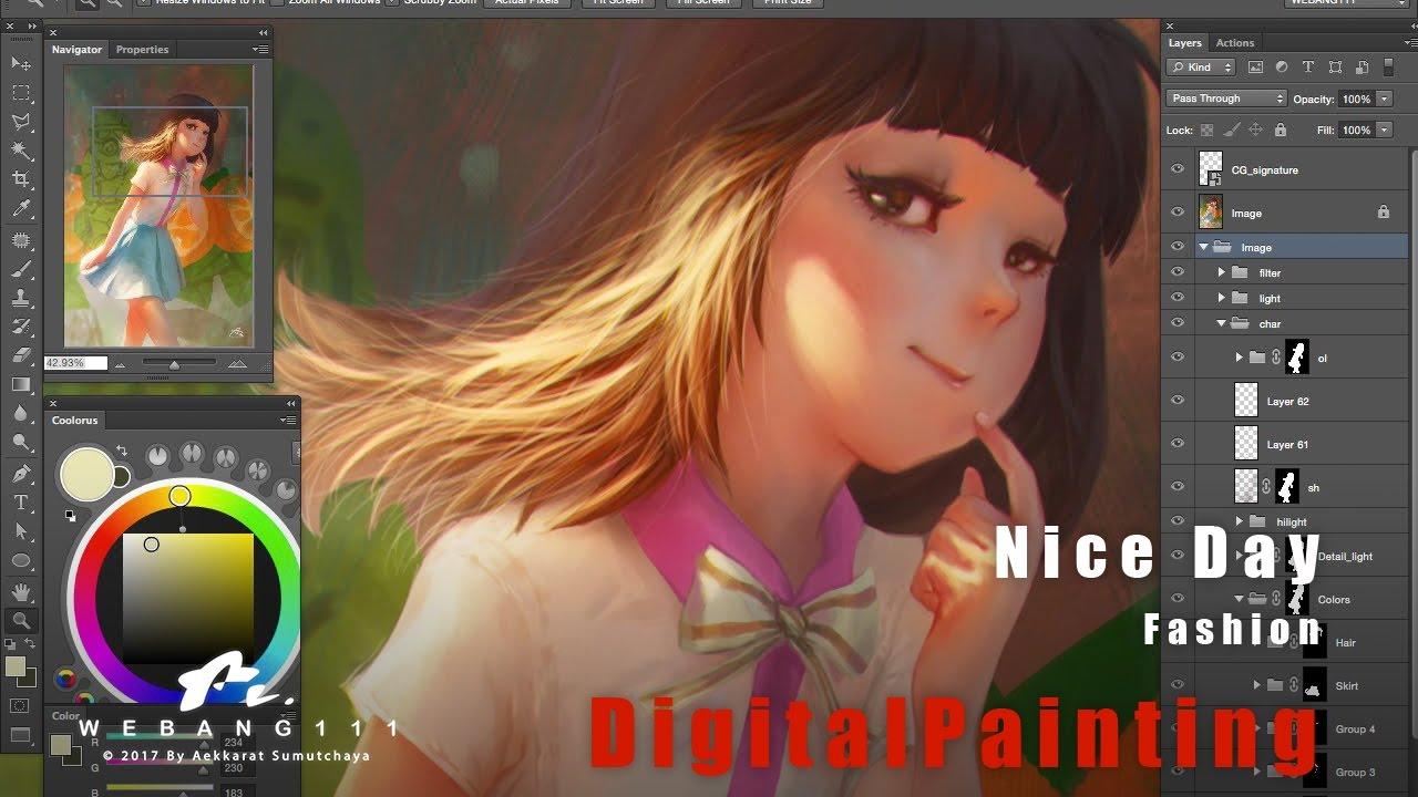 Nice Day Digital Painting Youtube