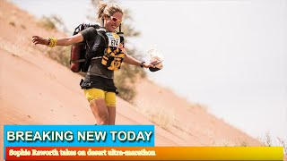 In Pictures - Sophie Raworth takes on desert ultra-marathon