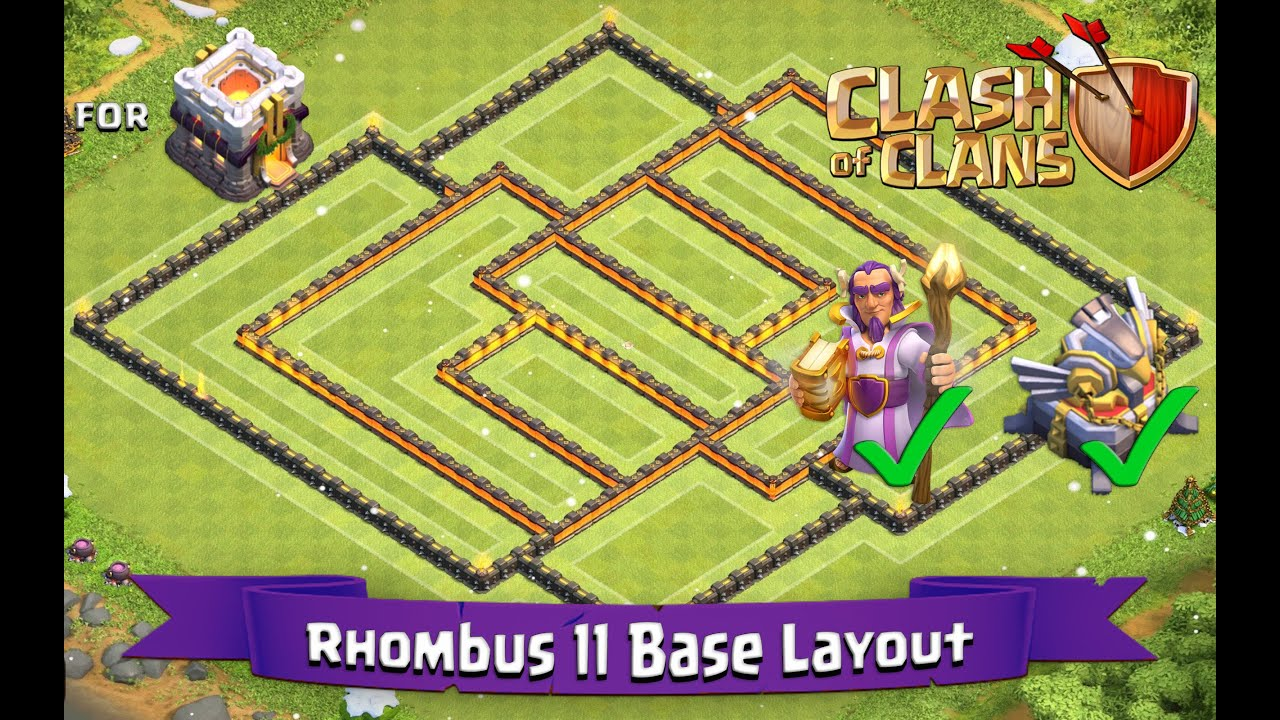 Clash of clans th11 best farming base layout with gw and eagle