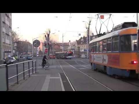 Leipzig Trams, Leipzig, Saxony, Germany - 9th December, 2014