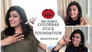 Trying Colorbar Full Coverage Makeup Stick Yay or Nay