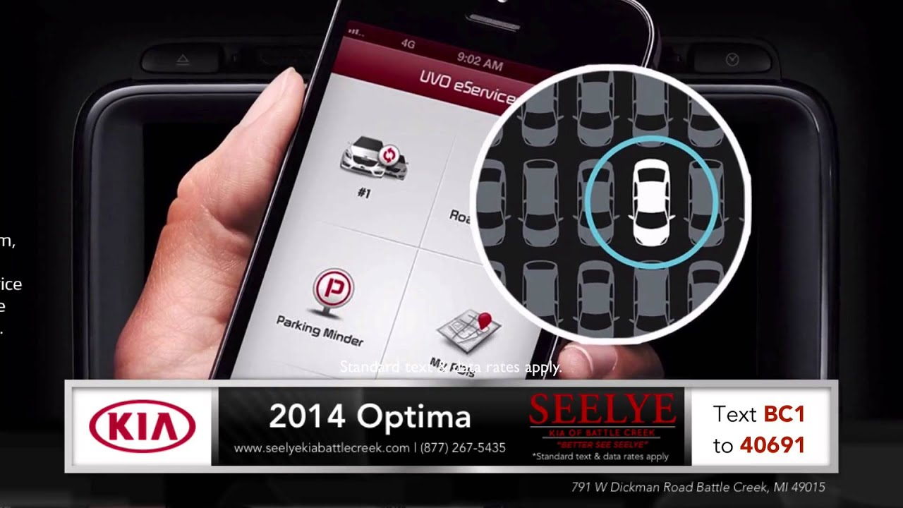 2014 KIA Optima UVO eServices Overview near Lansing, MI