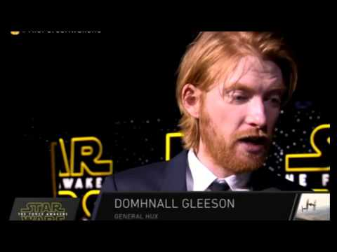 Domhnall Gleeson Interview - Star Wars The Force Awakens Red Carpet