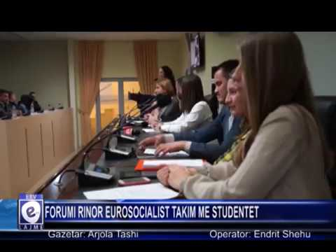 FORUMI RINOR EUROSOCIALIST TAKIM ME STUDENTET