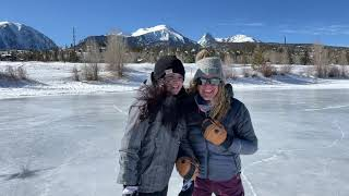 Ice Skating & Fishing at North Pond Park in Silverthorne, Colorado