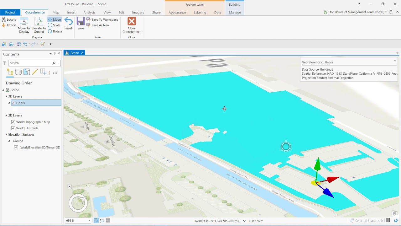 How to Georeference Revit Data In ArcGIS Pro