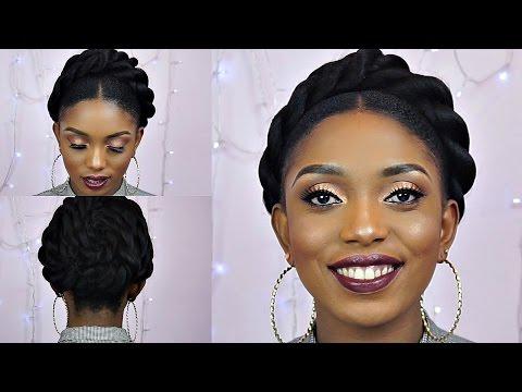 How To Jumbo Front Twist Bun Tutorial On Short Natural Hair thumbnail