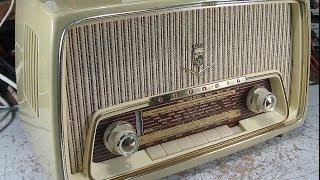 Röhrenradio Grundig 97 S Hörprobe auf Kurzwelle und UKW