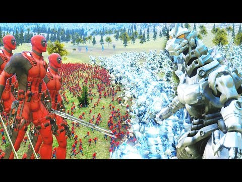 5000 DEADPOOLS VS 1000 GOZILLAS ROBOTICOS | ULTIMATE EPIC BATTLE SIMULATOR #15