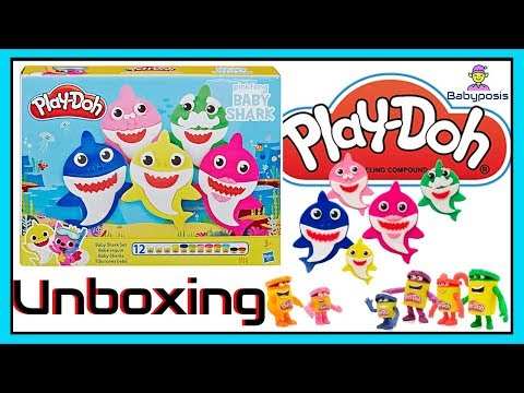 🦈❤️Baby shark play doh set, unboxing and review❤️🦈