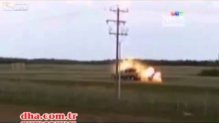 Lightning hits pick up truck in Canada and turned it into a fireball ...