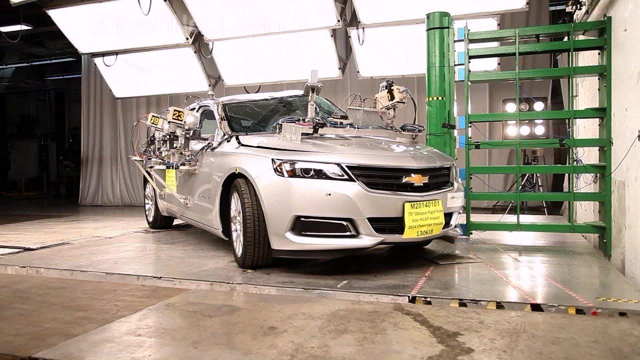 2014 Chevrolet Impala Side Pole Crash Test By NHTSA