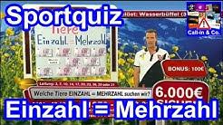 Sportquiz · Einzahl = Mehrzahl (11.09.2012) · Call-In & Co.