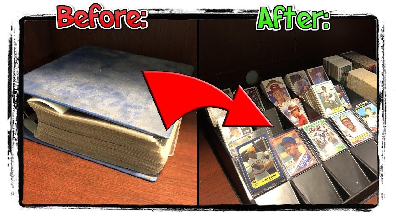 How I Sort Through A Huge Binder Of Baseball Cards Mailday