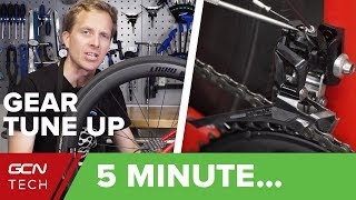 5 Minute Simple Bİke Gear Tune-Up | Indexing, Cable Tension & Limit Screws