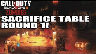 Sacrifice Table Easter Egg In Round 1!! Ritual For Gateworm Black Ops 3 Zombies