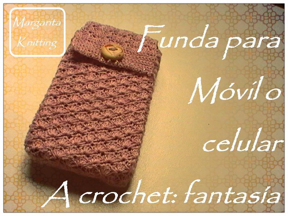 Funda para m vil o celular a crochet fantas a diestro - Fundas para bolsos ...