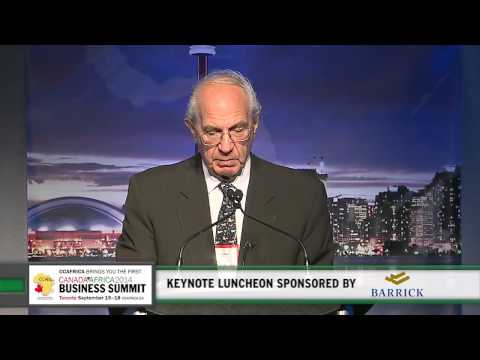Canadian billionaire Ned Goodman is excited about Africa - CABS Keynote Speaker
