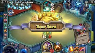 Hearthstone Knights of the Frozen Throne - Lady Deathwhisper (Gameplay Walkthrough)