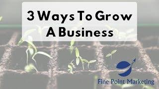 3 Ways To Grow A Business | Fine Point Marketing | Appleton, WI