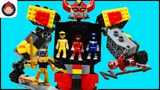 Mega Construx Power Rangers Mighty Morphin Megazord Playset Unboxing Toy Video w Red Ranger Battle