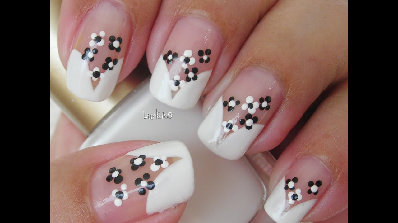 nail art cute florecitas decoracin de uas