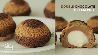 Double Chocolate Cream puff Cookie Choux | Cooking tree