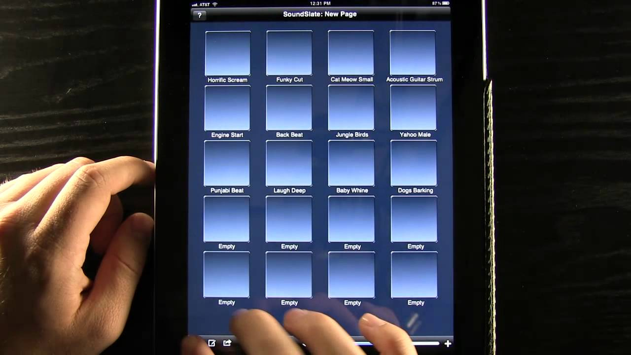SoundSlate 3 for the iPad - Custom Multi-page Sound Board Creation