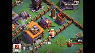 Crazy Clash Of Clans Glitch/giant On Top Of Builder Hall