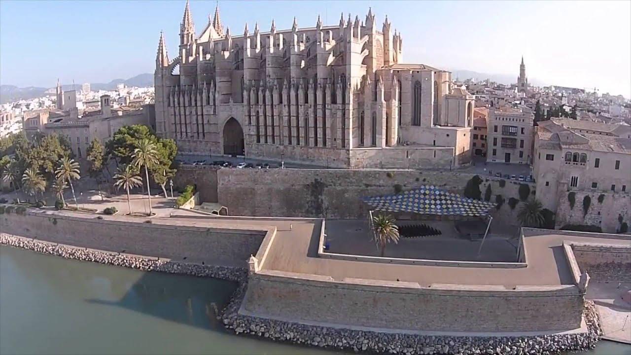 Palma cathedral mallorca drone youtube - Muebles baratos palma de mallorca ...