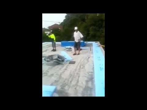 Installation Of Flat Roof Thermal Insulation Barrier From