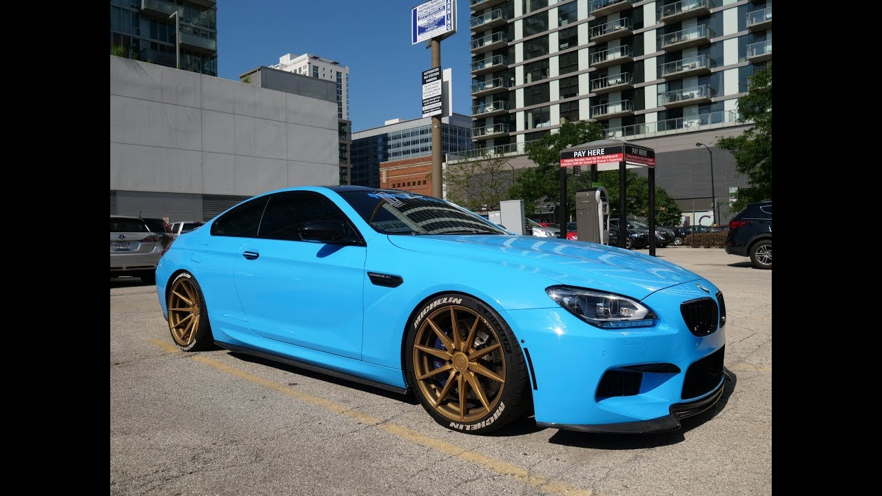 Baby Blue Bmw M6 V8 Twin Turbo In Chicago Youtube