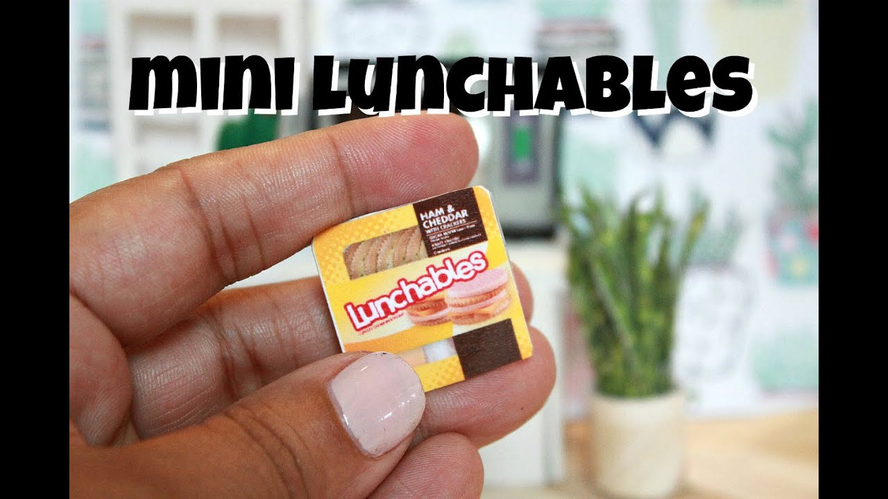 Diy Miniature Lunchables Youtube