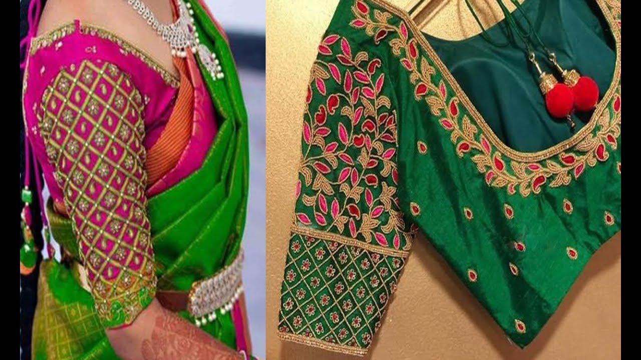 dd86fc2616f716 Beautiful Embroidery Work Blouse Designs 2018 | Maggam Work | Aari Work | Party  Wear Blouse Designs