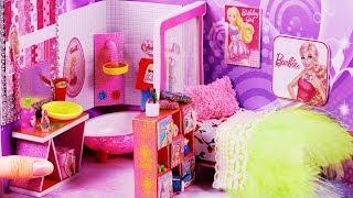 DIY Miniature Dollhouse ~ Barbie Room Decor ~ Barbie School Supplies #80
