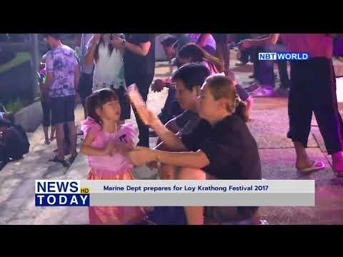 Marine Department prepares for Loy Krathong Festival 2017